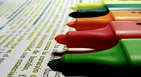 marcadores de un alumno que prepara las pruebas de acceso a grado superior 2013